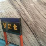 床タイルのための適用範囲が広い室内装飾のロマンチックな金の一義的な人工的な大理石の平板