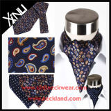 Gli uomini adattano a 100% il foulard del legame del Ascot della stampa di matrice per serigrafia
