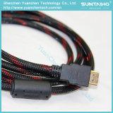 Cabo HDMI de alta velocidade plana com Shell de PVC de cor dupla