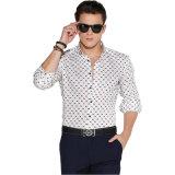 Projeto das camisas de vestido formal de China para homens do algodão 100%