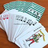 Playingcards revestido plástico/cliente Designes Playingcards/póquer do casino