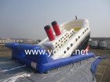 遊園地のための膨脹可能な海賊船のスライド