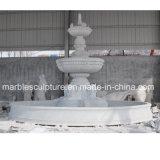 Fuente de agua de mármol blanca de Carrara para la decoración del jardín (SY-F301)