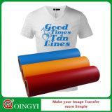 Vinilo del traspaso térmico de la materia textil del PVC de la buena calidad de Qingyi