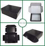 Schwarzer glatter kundenspezifischer Shiping Karton-Kasten
