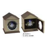 回転時計ケースの単一の腕時計のDiplayの革腕時計の巻取り機