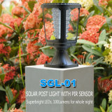 Luz solar moderna del pilar del LED del voltaje bajo para el jardín