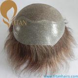 Toupee biondo medio del sistema dei capelli di colore per gli uomini
