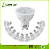 Marché de l'Amérique GU10 blanc chaud 6 W à intensité réglable LED blanc froid avec ce projecteur compatible RoHS