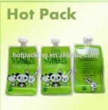 Encargo de plástico flexible Boquilla bolsa de líquidos bolsas de embalaje para el detergente
