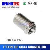 Conector recto hembra F Polo eléctrico conector coaxial