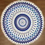美しいSuperfineファイバーの丸型の印刷のビーチタオル