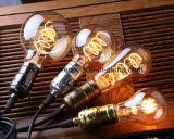 Luz antiga retro E27 S32 dos bulbos do filamento do diodo emissor de luz de Edison do vintage de Dimmable T45/ST64/G125