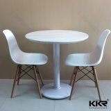 Tabella pranzante superiore di superficie solida della mobilia moderna per il ristorante (171026)