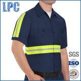 Camicia riflettente del lavoro del cotone di alta visibilità aumentata tecnico dell'OEM