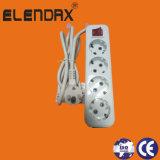 ボタンおよび接地接触の拡張ソケット(E8004ES)が付いている2/3/4/5の場所