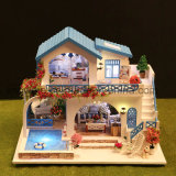 Poppenhuis van het Stuk speelgoed DIY van China 3D Mini Model Houten