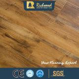 pavimentazione laminata laminato del rivestimento della cera dell'acero della scanalatura di 12mm Eir U
