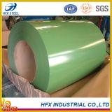 Bobina de acero cubierta color para importar el material de construcción