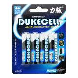 Bateria de célula seca Lr6 AA com boa qualidade