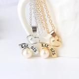 La collana del cuore del Lariat della sorella della lega ha impostato per il grande regalo dei monili di Bff di goccia dell'acqua della perla di Sis di Lil & di Sis