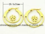 Oorring van de Nagel van het Plateren van Vaccuum van de Juwelen van het Lichaam van de manier de Gouden (ERS6975)