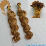 브라질 인간적인 Remy 머리 각질 편평한 끝 머리 연장 (TT430)