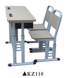 二重シートの木の製品の学校の机および椅子の家具セット