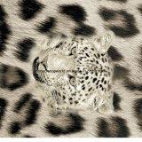 100% Polyester Leopard Print Pigment & Disperse Tissu Imprimé pour Ensemble de Literie