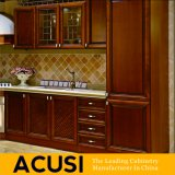 Gabinetes de cozinha por atacado da madeira contínua do estilo do americano U (ACS2-W21)