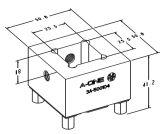 Houder van de Elektrode van het Koper van de Inrichting van Erowa de Vierkante voor EDM Draaibank 3A-500104