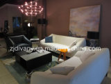 Sofà moderno moderno del cuoio bianco della mobilia del sofà (D-76-C)