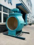 Tipo superiore valvola a sfera dell'entrata di Wcb mezza eccentrica del doppio per il trattamento delle acque