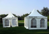 Alumunum weißes Belüftung-Pagode-Zelt mit Glastür für Hochzeit