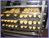 Bäckerei-Laufkatze-Edelstahl-Nahrung karrt Zahnstangen für Drehofen