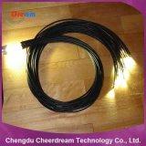 lumière de câble fibre optique de lueur de fin de 2mm/3mm