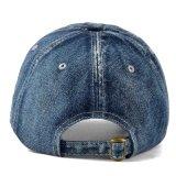 Casquette de baseball promotionnelle de jeans de broderie de sports de broderie de chapeau de coton fait sur commande de Burshed