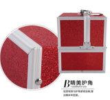 صاحب مصنع ضعف مفتوحة [بورتبل] مستحضر تجميل صندوق مع صينيّة متعدّد