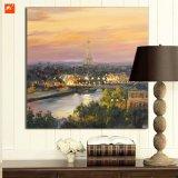 パリの薄暗がりの芸術プリントエッフェル塔の油絵