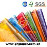 Plein de couleurs de haute qualité papier cristal transparent papier pour l'enrubannage