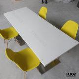 Лоснистый акриловый твердый поверхностный обеденный стол суда ноги