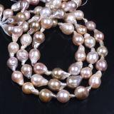 Фиолетовый Keshi Pearl ветви возрождается Pearl жилы жемчужина барокко цепочка