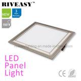 Alumínio Electroplated 9W Luz do painel de LED cinza