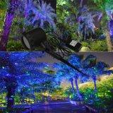Светляка неги лазерного луча лужайки ландшафта лазера сада светляка Blue&Green репроектор Moving светлый