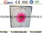panneau de estampage chaud de PVC de 595*595*7mm pour des tuiles de mur et de plafond