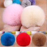 熱い販売の粋なウサギの毛皮のポンポンののどの毛皮の球