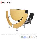 Orizeal 스테인리스 식탁 다리를 가진 학교에 의하여 이용되는 Cafetria 이동할 수 있는 접의자