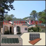 Revestimento de metal revestido de pedra / Telhado de celeiro / Materiais para telhados / Melhor cobertura de aço / Custo de um telhado de aço / Custo telhas de telhado clássicas