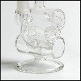 Pipe de fumage en verre de plate-forme pétrolière de Hitman de Hfy mini de bébé de double de baril de conduite d'eau de vapeur en verre en verre de recycleur