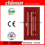 Puerta de madera sólida con madera pintada sólida